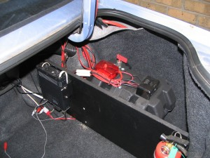 Battery box, isolator and radio